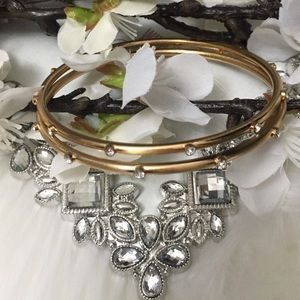 Brighton Gold Bracelets with Crystals (set of two)