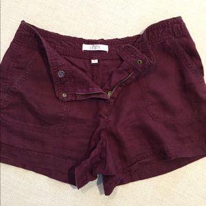 Ann Taylor Loft Purple Shorts 100% Linen