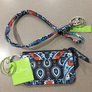 Vera Bradley Zip ID Case Lanyard Set Marrakesh NWT
