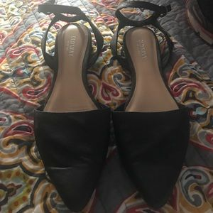Old Navy black ankle strap flats