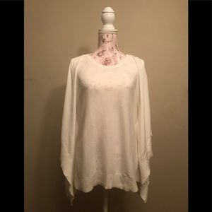 Michael Kors white poncho shirt