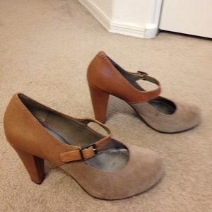 Gianni Bini Suede/Leather Heeled Mary Jane's - 8M