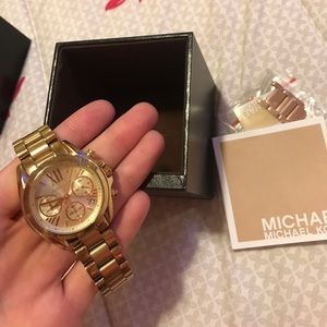 Gold michael kors watch women