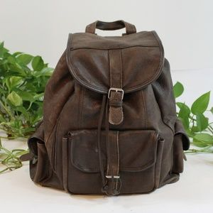 ⭐️ NEW ARRIVAL Large Leather Backpack Rucksack
