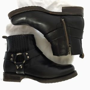 Frye motorcycle ankle boots