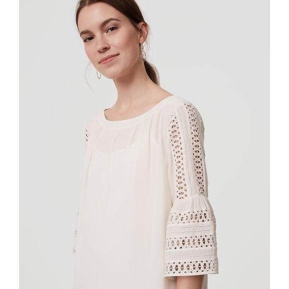 cf09e1e27 LOFT Tops   White Lace Bell Sleeve Blouse   Poshmark