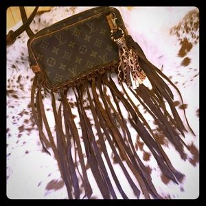Authentic Upcycled Louis Vuitton Marly with fringe