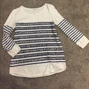 J crew sequin shirt