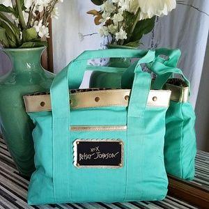 Betsey Johnson Turquoise Green Mini Tote
