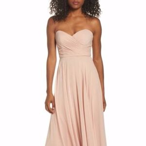 JENNY YOO Adeline Strapless Chiffo n Gown Size 18