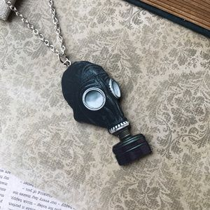 Black Gas Mask Necklace for sale