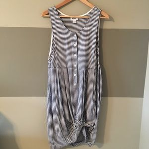NWT Vintage Button Up Tank Dress