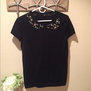 Ann Taylor Jeweled Collared Shirt