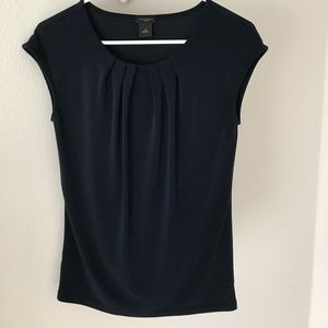 Ann Taylor Navy Blue Size XS Top Short Sleeve