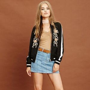 Grid patterned denim mini skirt size 30