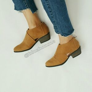 Shoes - Strap Cut Out Booties