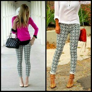J Crew geometric skinny jeans