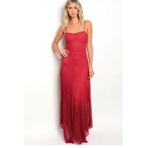 Dresses & Skirts - New burgundy uneven hemline long dress