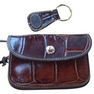 Dooney & Bourke croco-embossed change/makeup purse