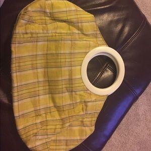 Yellow plaid j crew handbag