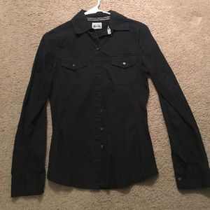 Used Black Button Down Shirt XS