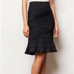 Anthropologie Black Bandage Flirty Pencil Skirt ✏️