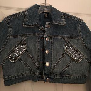Crop Jean Jacket Size Medium