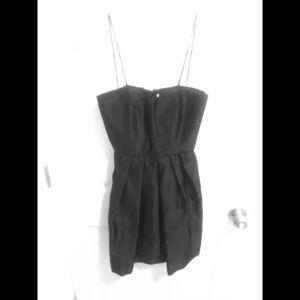 Gorgeous Satin Foley + Corinna Black Shell Dress