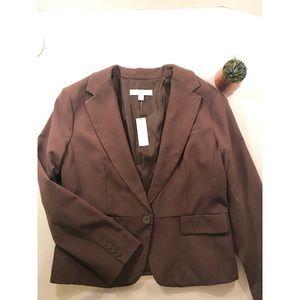 NWT New York & Company Brown Blazer- Petite Sz 16