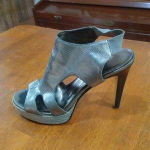 Silver Heels Nine west size 7