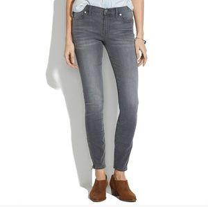 Madewell skinny skinny grey zip jeans