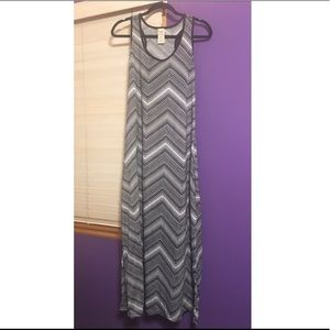 FADED GLORY Black and White Maxi Dress