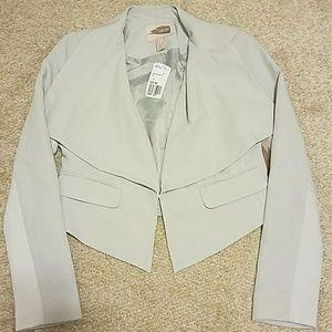 Groped draped front blazer