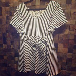 Jessica Simpson striped Maternity Blouse