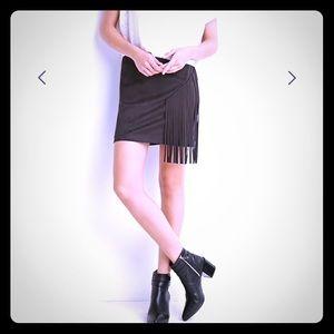 Faux sued mini skirt