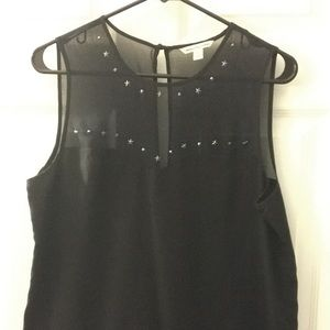 Silk AE blouse with star details
