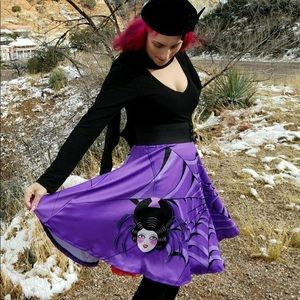 Vintage Style Black Widow Skirt