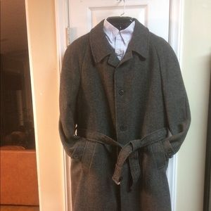 Allan Mitchell Pure New Wool Tweed Trench Coat