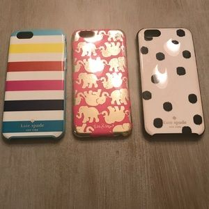 Iphone 6 cases - 2 Kate Spade - 1 Lilly Pulitzer