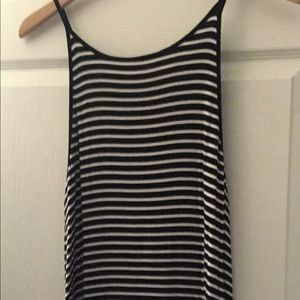"""Black and white tank-top """"tunic"""""""