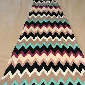 Chevron Charlotte Russe Maxi Skirt