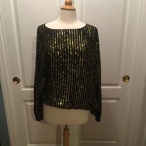 PRICE DROP Rachel Zoe sequin bat wing blouse