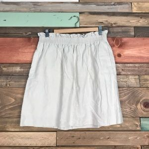 J Crew Cream Linen Lined Skirt 8