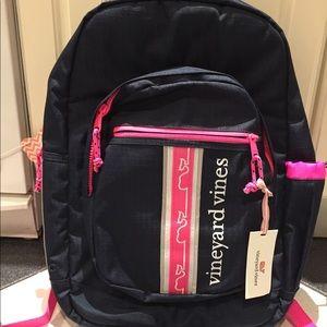 Vineyard vine girl tech backpack.  Never use