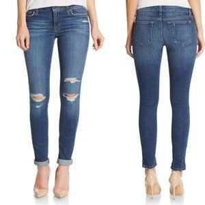 Joe's Jeans 25 Mid Rise Skinny Distressed Jeans