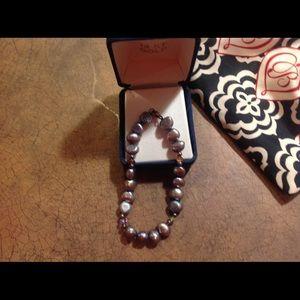 """Jewelry - New SS Smokey Quartz Fashion Bracelet 7"""""""