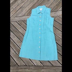 Talbots's 100% Irish Linen Button dress