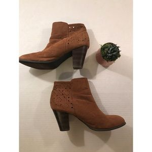 American Eagle Brown Suede Booties-  Size 10