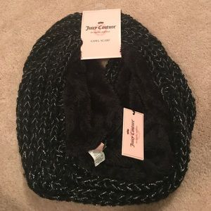 NWT Juicy Couture black cowl scarf