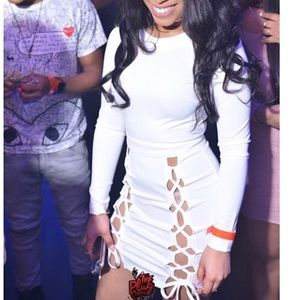 Ivory FashionNova dress worn once .
